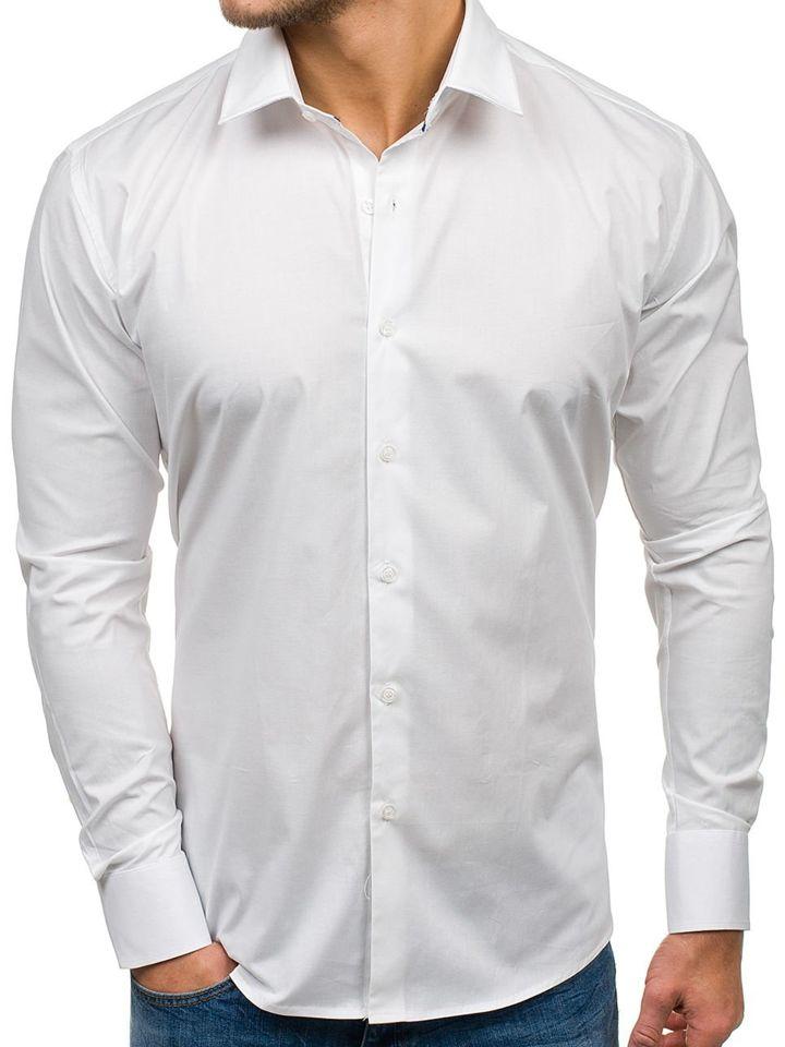 257dd9a2be435 Camisa elegante de manga larga para hombre blanca Bolf GEM01 BLANCO