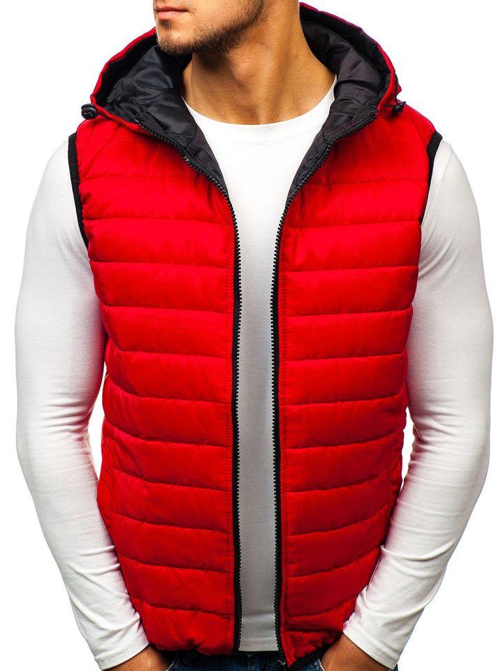 bfbeb967a29 Chaleco con capucha para hombre rojo Bolf AK88 ROJO