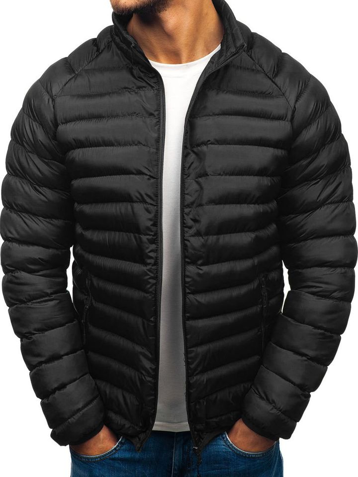 abc423b3e7e Chaqueta de invierno deportiva para hombre negra Bolf SM53-A NEGRO