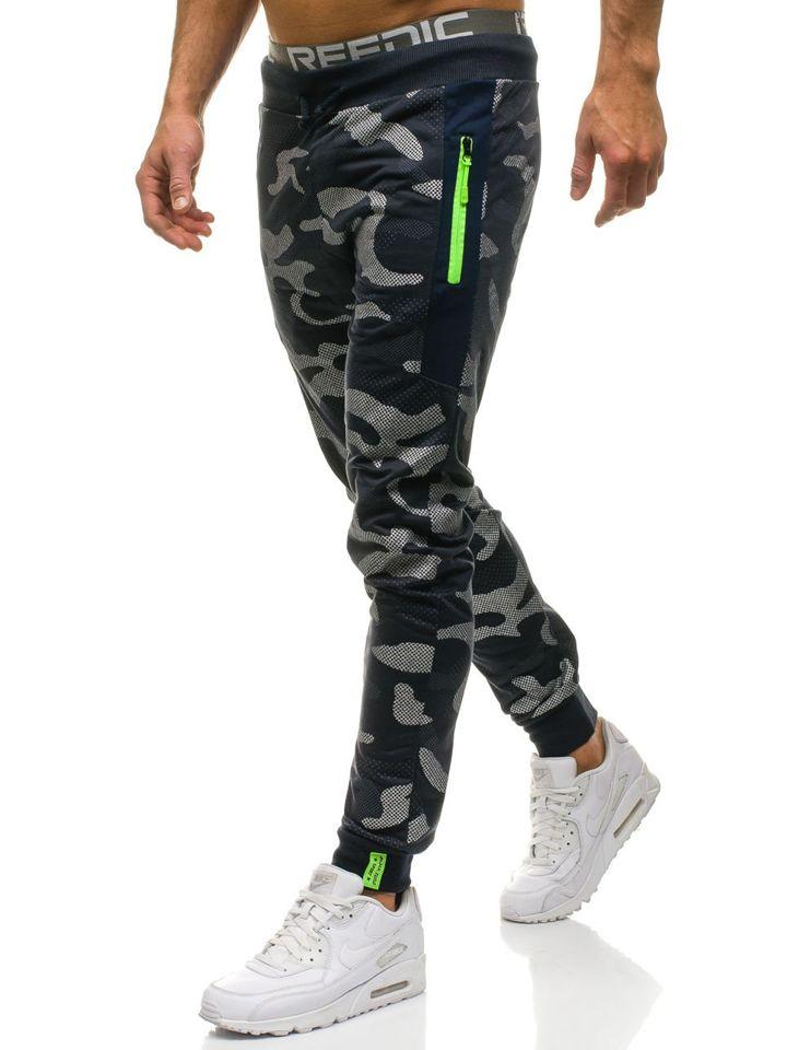 Pantalón jogger de chándal para hombre camuflaje azul oscuro Bolf ML225 ... 5ea59f40ee2b