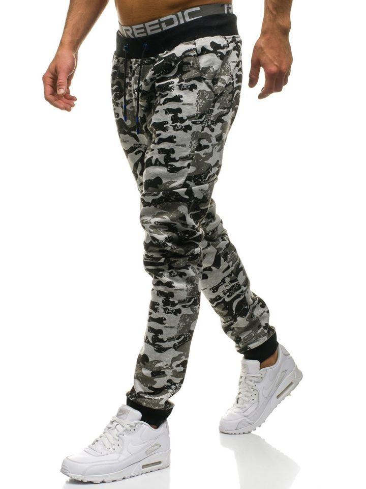 Pantalón jogger de chándal para hombre camuflaje gris Bolf KK09 GRIS 821aa0ade781