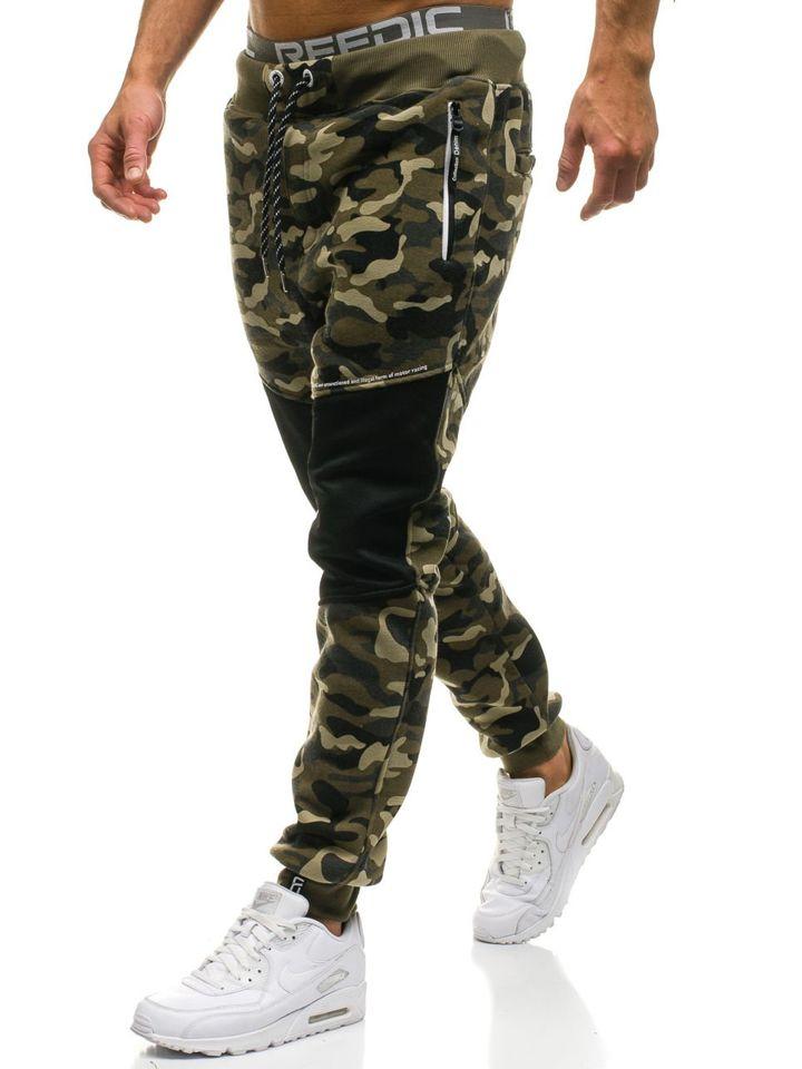 Pantalón jogger de chándal para hombre camuflaje verde Bolf QN274 VERDE a43be2380fc2