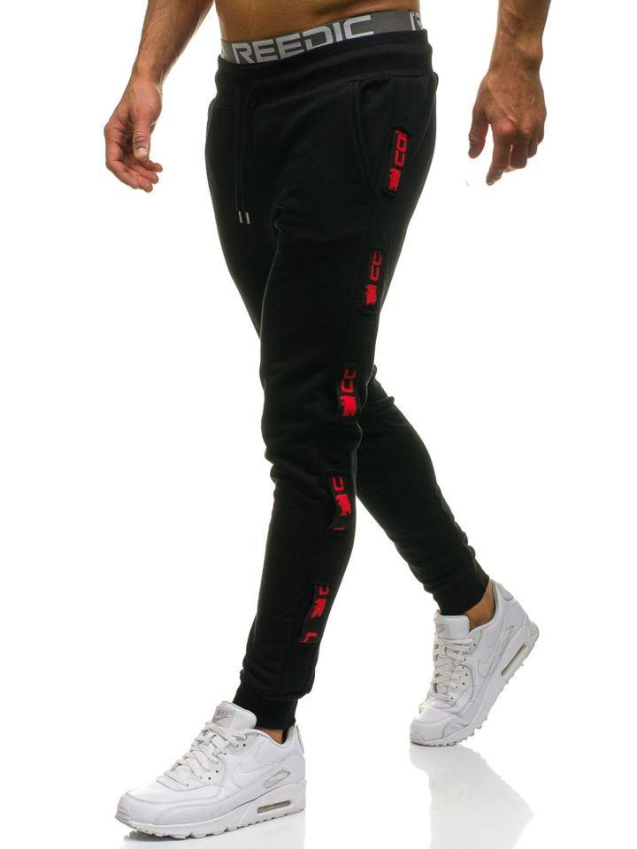Pantalón jogger de chándal para hombre negro y rojo Bolf 0921 NEGRO ... e37c3647deb7