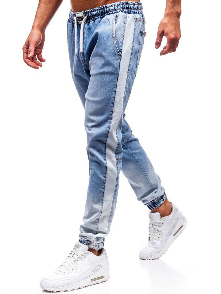 Pantalón jogger vaquero para hombre azul claro Bolf 2047 JASNY NIEBIESKI 9014aa330cdf