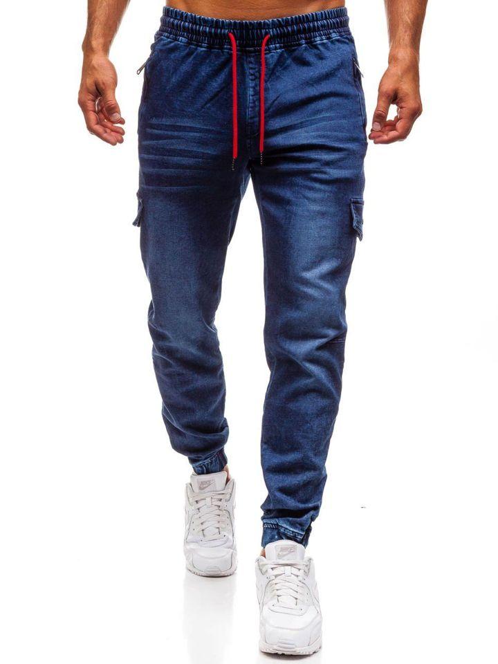 67ff3b845a Pantalón jogger vaquero para hombre azul oscuro Bolf Y272B AZUL OSCURO