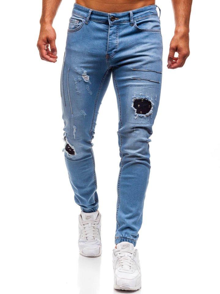 3eafb3fb8 Pantalón vaquero jogger para hombre azul claro Bolf 2036 JASNY NIEBIESKI