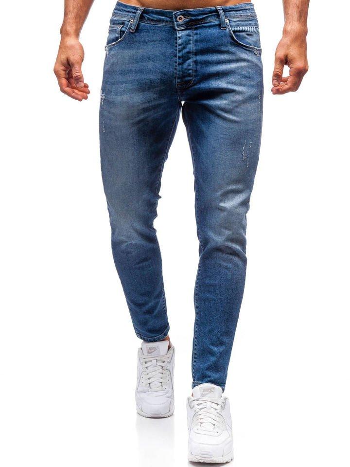 nueva estilos 4cd7e 71c5b Pantalón vaquero para hombre azul oscuro Bolf 7158