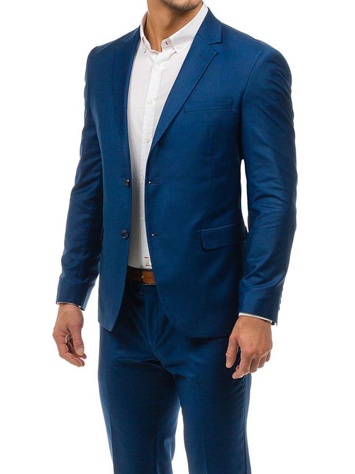 075af1b3a Traje para hombre azul oscuro-3 Bolf 1000