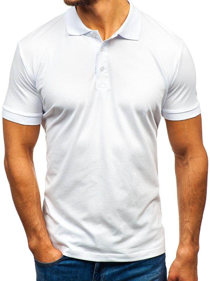 Camiseta polo para hombre blanca Bolf 171221