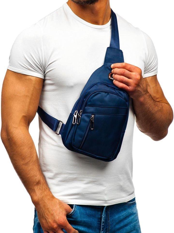 Riñonera de brazo para hombre azul oscuro Bolf T50