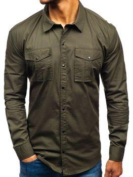 7f07b1fc86 Camisa de manga larga para hombre caqui Bolf 2058-1