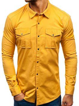 d592122785 Camisa de manga larga para hombre mostaza Bolf 2058-1