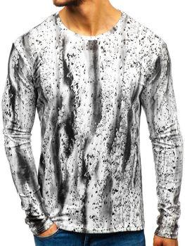 Camiseta de manga larga estampada para hombre blanca Bolf 2088L-1 10f5bc7e3f9
