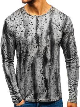 Camiseta de manga larga estampada para hombre gris Bolf 2088L-1 e9b953ca3ec