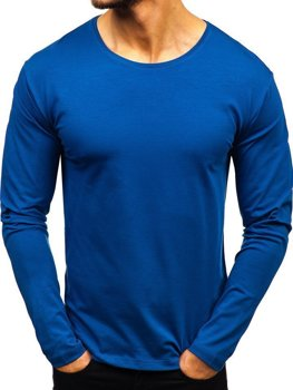 2ad7c5d5a Camiseta de manga larga sin estampado para hombre índigo Bolf 172007