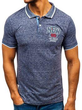 Camiseta polo para hombre azul oscuro Bolf 19240 07065fda0337