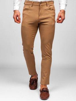 Pantalones Marrones De Tela Ligera Para Hombre Coleccion 2021