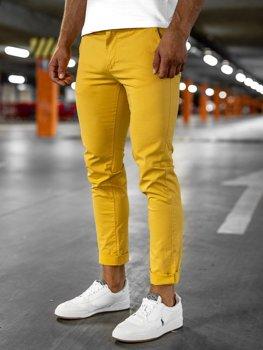 Pantalones Amarillos De Tela Ligera Para Hombre Coleccion 2021