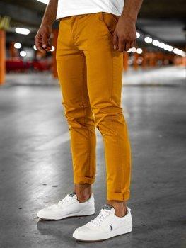 Pantalones Naranjas De Tela Ligera Para Hombre Coleccion 2021