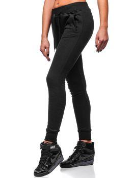 Pantalón de chándal para mujer negro Bolf 77001 f4534a71df63