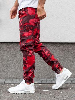 Pantalones Rojos Con Bajos En Punto Elastico Para Hombre Coleccion 2020