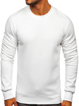 7689eb855d7 Sudadera sin capucha para hombre blanca Bolf 2001