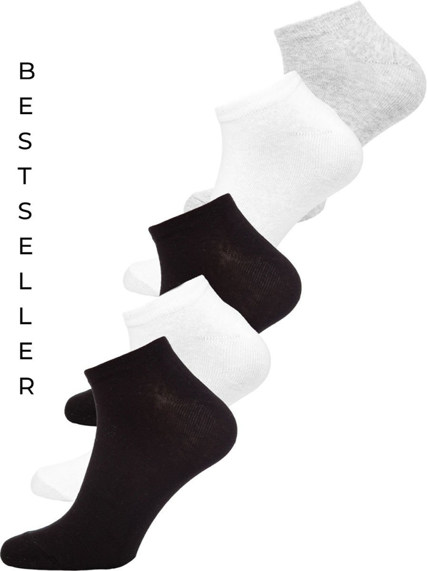 Calcetines invisibles para hombre multicolor Bolf X10161-5P 5 PACK