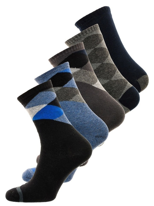 Calcetines para hombre multicolor Bolf X10074-5P 5 PACK