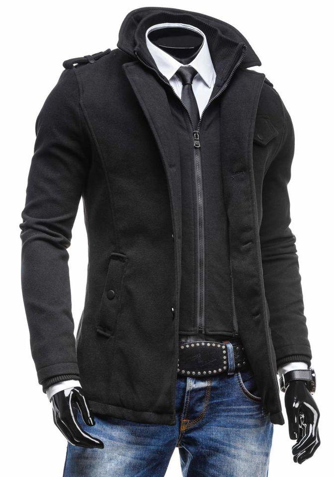 selección premium 0528c 1f1ab Abrigo para hombre negro Bolf 8853C