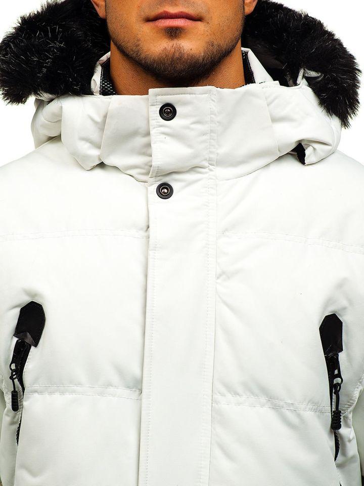 a39096d6da69 Chaqueta de invierno de esquí para hombre blanca Bolf 5423