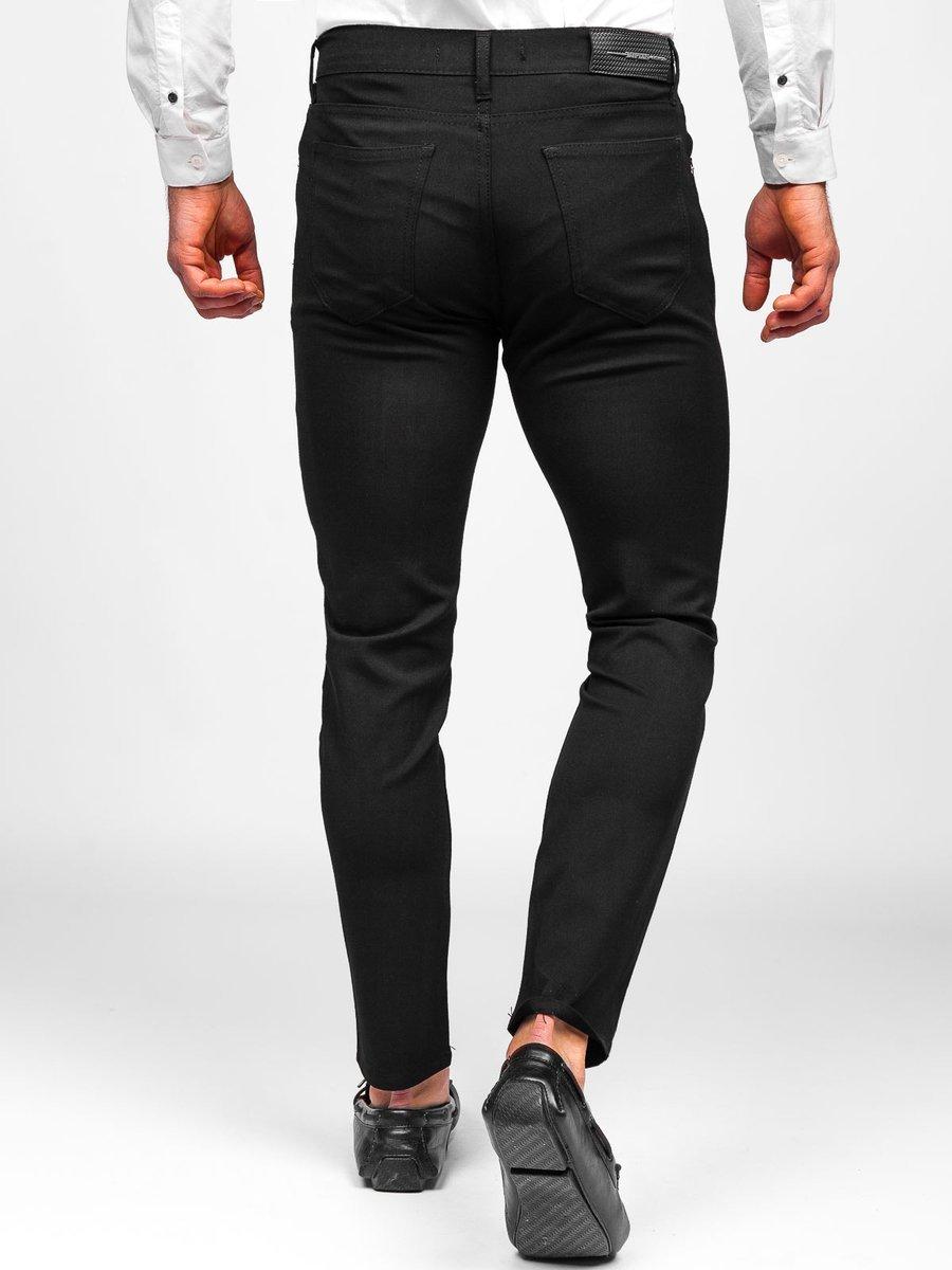 Pantalón chino de tela para hombre color negro Bolf 0004 NEGRO