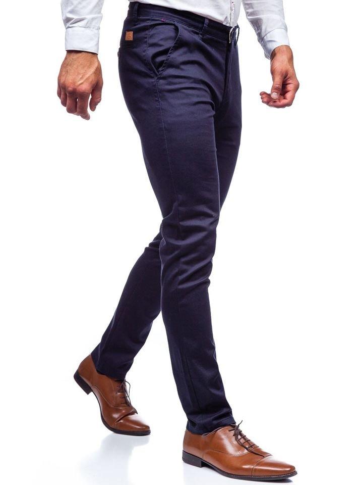 reloj e7417 59fd3 Pantalón chino para hombre azul oscuro Bolf KA969