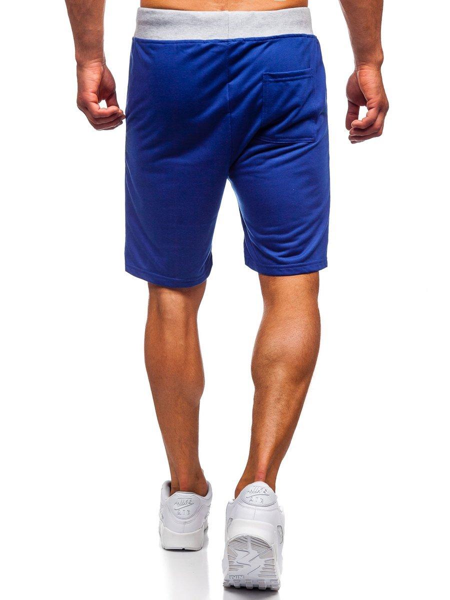 08462b9aa50ed Pantalón corto de chándal para hombre azul Bolf EX07 AZUL