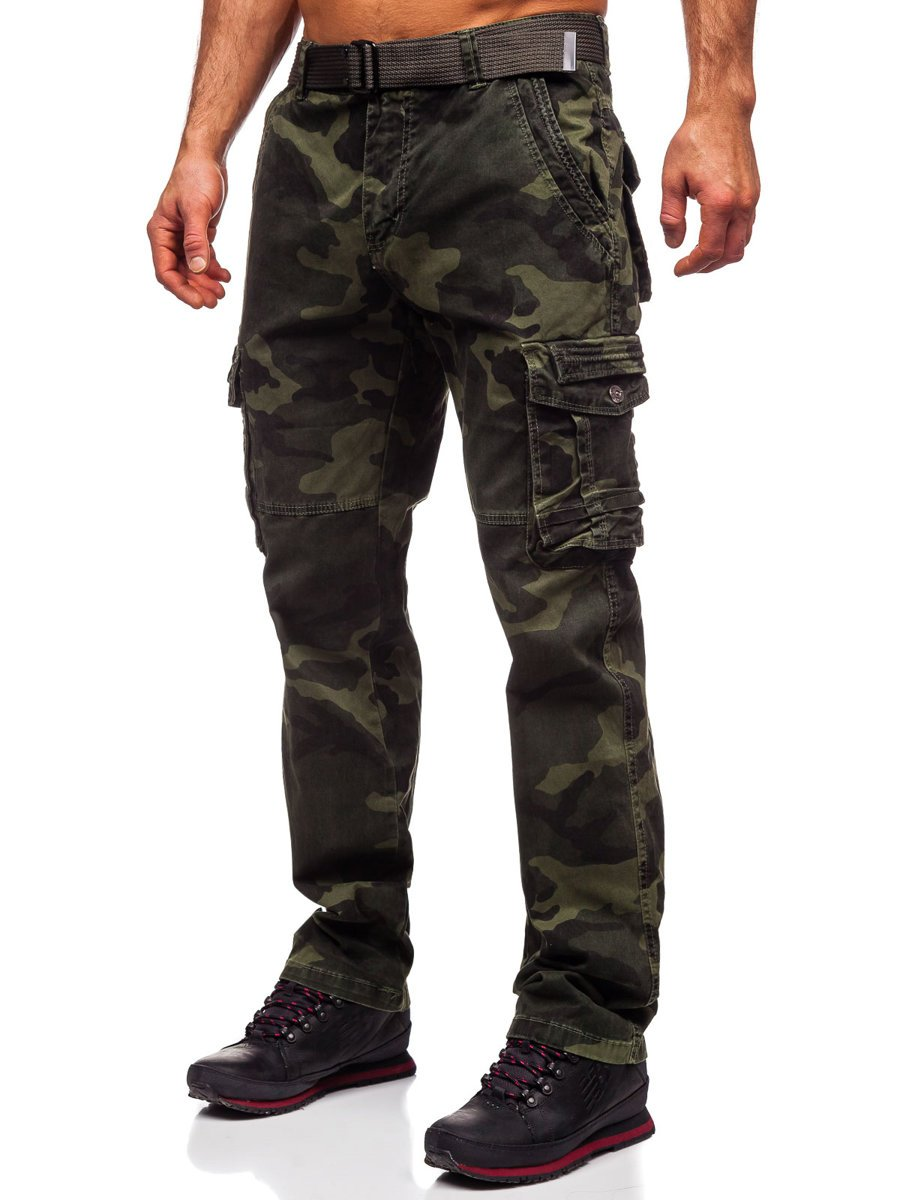 Pantalón de camuflaje cargo para hombre color caqui con ...