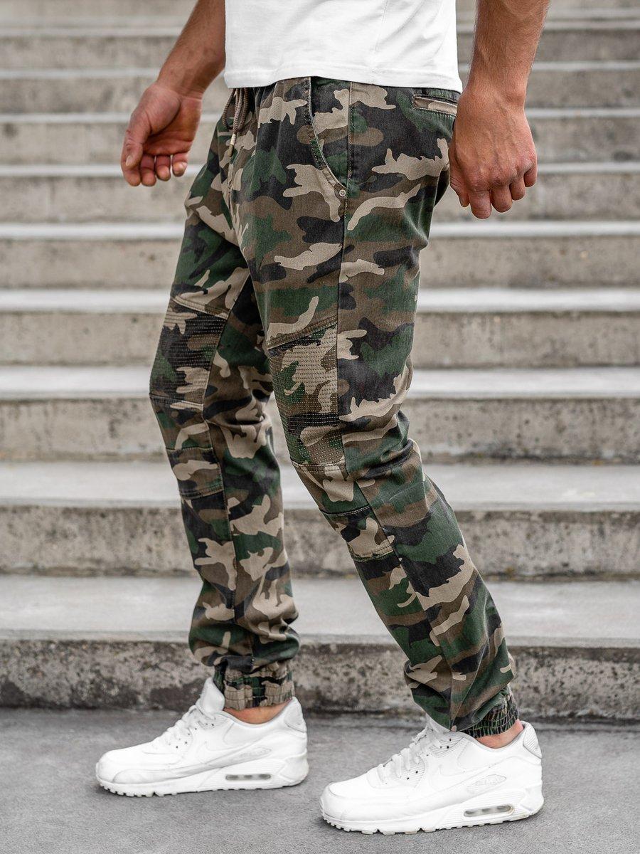 Pantalon Jogger Camuflaje Para Hombre Caqui Bolf Rb8213xt