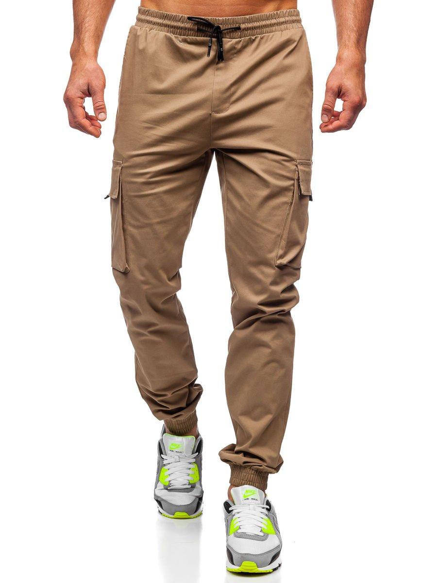 Pantalón jogger cargo para hombre beige Bolf 701 BEIGE