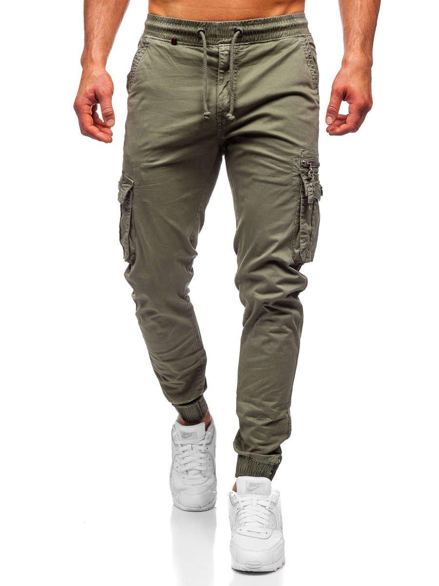 Pantalón jogger cargo para hombre verde claro Bolf CT6702 ...