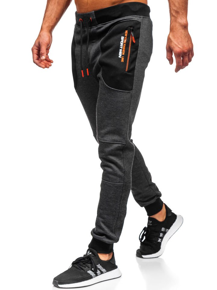 Pantalón jogger de chándal para hombre negro Bolf TC848 NEGRO
