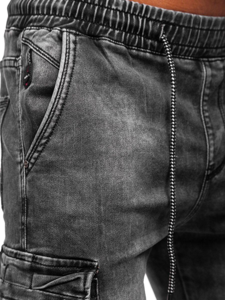 Pantalon Jogger De Mezclilla Negro Para Hombre Denley Ka1311 Negro