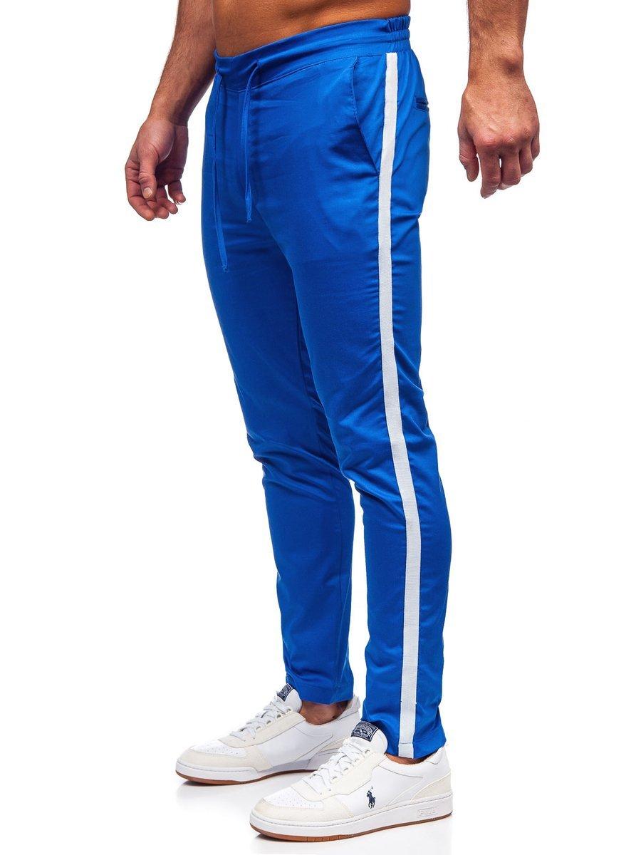 Pantalon Jogger De Tela Para Hombre Color Azul Bolf 0013 Azul