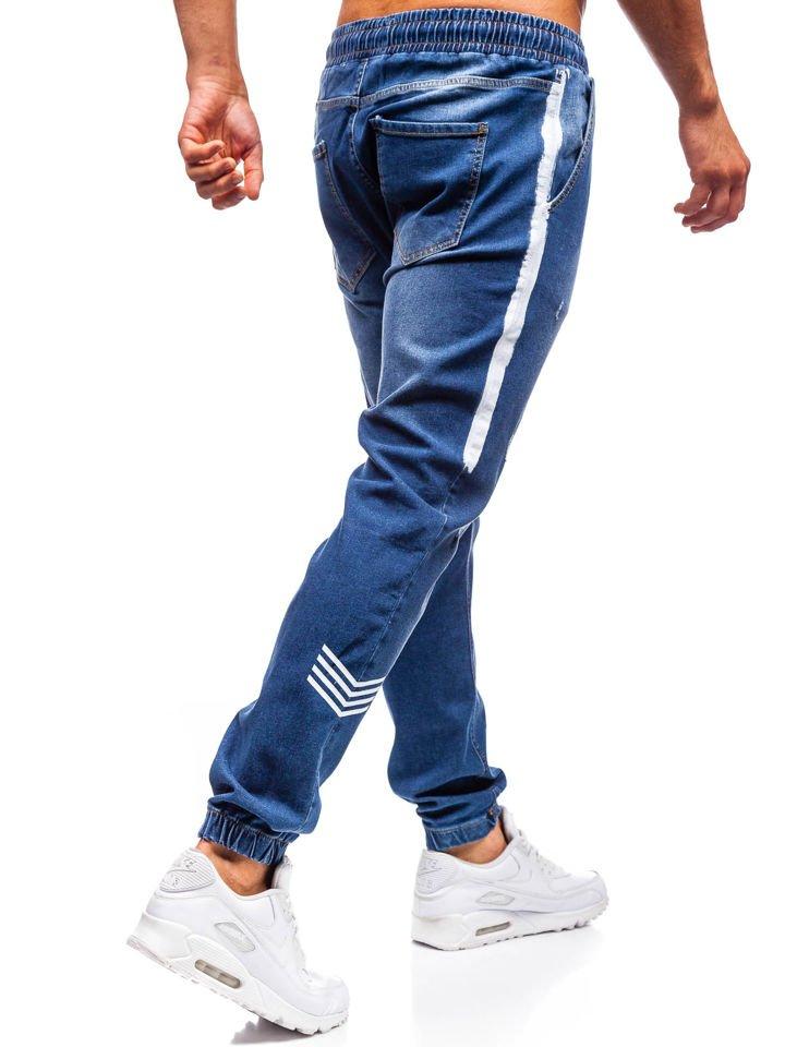 907783f6b7 Pantalón jogger vaquero para hombre azul oscuro Bolf 2055 AZUL OSCURO