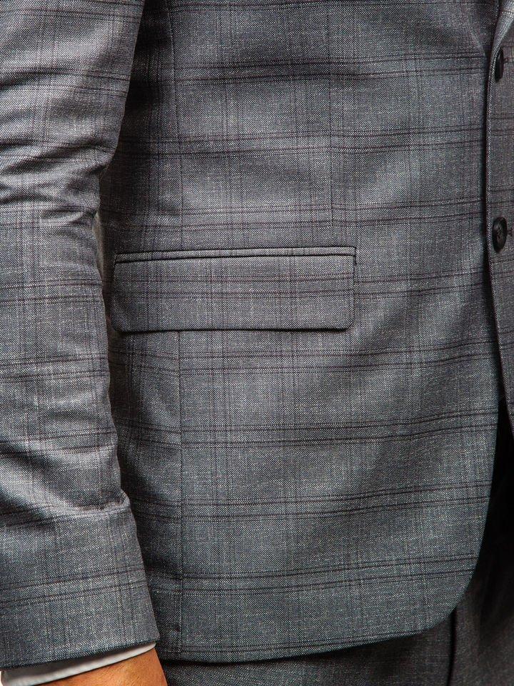 8808fcdbb7a59 ... Traje con chaleco para hombre gris Bolf 18300 ...