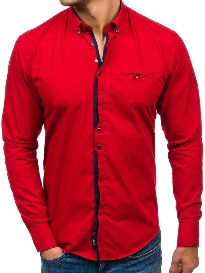0b62d85ac2b58 Camisa de manga larga elegante para hombre roja Bolf 7720 ROJO