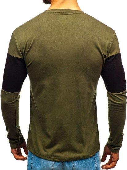 4809ea3fbb4 ... Camiseta de manga larga estampada para hombre verde Bolf XXS1090 ...