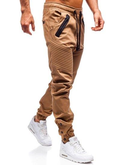 f4e8b694a8b14 ... Pantalón jogger para hombre camel Bolf 0952 ...