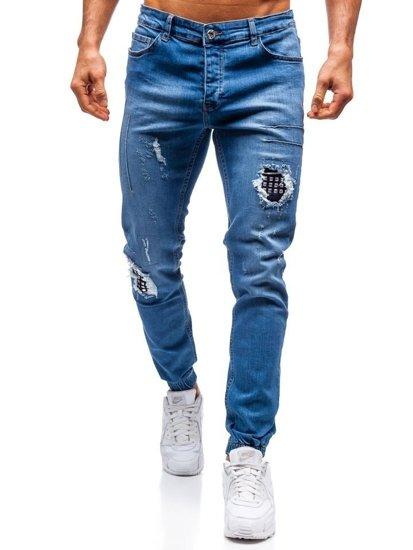 d996ca06d0f Pantalón jogger vaquero para hombre azul Bolf 2036-1 AZUL