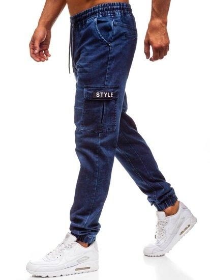 d6b5f2a254 Pantalón jogger vaquero para hombre azul oscuro Bolf Y262 AZUL OSCURO