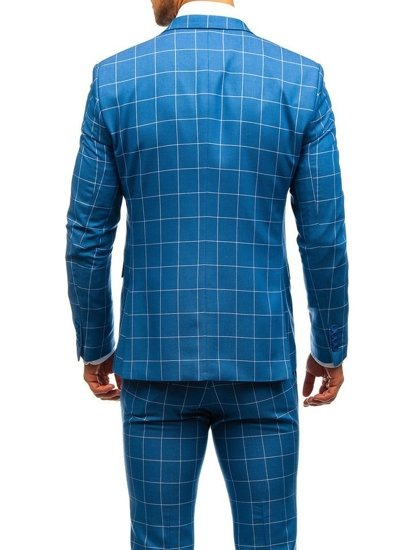 Hombre Con Chaleco Para Azul A Bolf Cuadros Traje 200k HTXq7 bb946a5b9bb